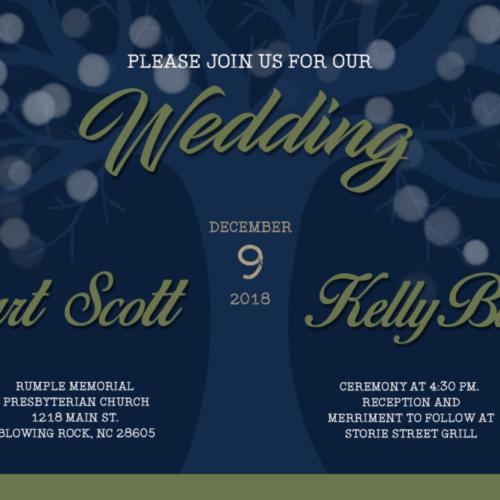 Scott Wedding Invite